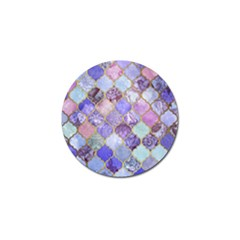 Blue Moroccan Mosaic Golf Ball Marker by Brittlevirginclothing