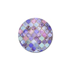 Blue Moroccan Mosaic Golf Ball Marker (10 Pack) by Brittlevirginclothing