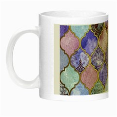 Blue Moroccan Mosaic Night Luminous Mugs by Brittlevirginclothing