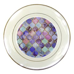 Blue Moroccan Mosaic Porcelain Plates by Brittlevirginclothing
