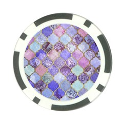 Blue Moroccan Mosaic Poker Chip Card Guard by Brittlevirginclothing