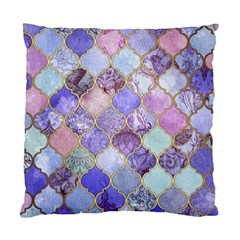 Blue Moroccan Mosaic Standard Cushion Case (two Sides) by Brittlevirginclothing
