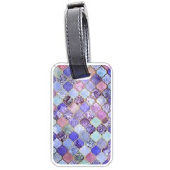 Blue Moroccan Mosaic Luggage Tags (one Side)