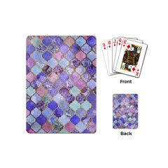 Blue Moroccan Mosaic Playing Cards (mini)  by Brittlevirginclothing