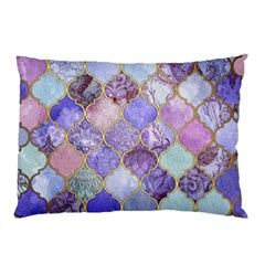 Blue Moroccan Mosaic Pillow Case (two Sides) by Brittlevirginclothing
