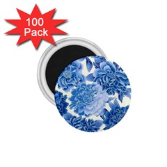 Blue Flower 1 75  Magnets (100 Pack)  by Brittlevirginclothing