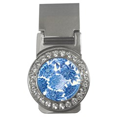 Blue Flower Money Clips (cz)  by Brittlevirginclothing