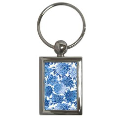 Blue Flower Key Chains (rectangle)  by Brittlevirginclothing