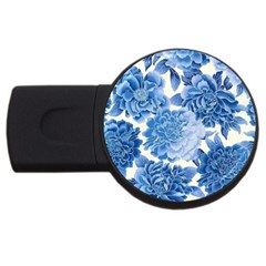 Blue Flower Usb Flash Drive Round (2 Gb) by Brittlevirginclothing