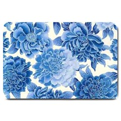 Blue Flower Large Doormat  by Brittlevirginclothing
