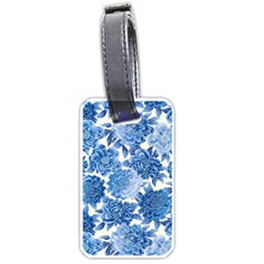 Blue Flower Luggage Tags (two Sides) by Brittlevirginclothing