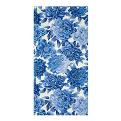 Blue Flower Shower Curtain 36  X 72  (stall)  by Brittlevirginclothing