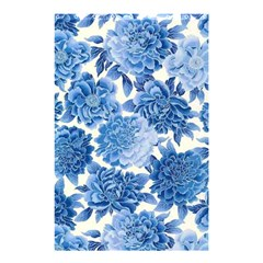 Blue Flower Shower Curtain 48  X 72  (small)  by Brittlevirginclothing