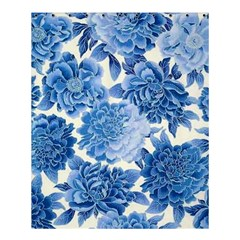 Blue Flower Shower Curtain 60  X 72  (medium)  by Brittlevirginclothing