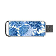 Blue Flower Portable Usb Flash (two Sides) by Brittlevirginclothing