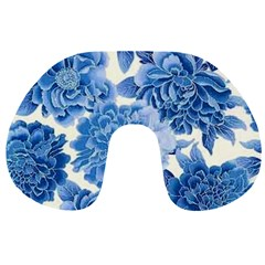 Blue Flower Travel Neck Pillows by Brittlevirginclothing