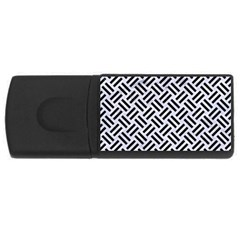 Woven2 Black Marble & White Marble (r) Usb Flash Drive Rectangular (4 Gb) by trendistuff