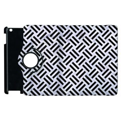 Woven2 Black Marble & White Marble (r) Apple Ipad 3/4 Flip 360 Case by trendistuff