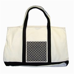 Woven2 Black Marble & White Marble Two Tone Tote Bag by trendistuff