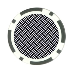 Woven2 Black Marble & White Marble Poker Chip Card Guard