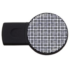 Woven1 Black Marble & White Marble (r) Usb Flash Drive Round (4 Gb) by trendistuff