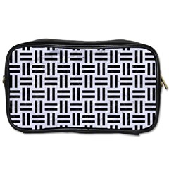 Woven1 Black Marble & White Marble (r) Toiletries Bag (two Sides) by trendistuff