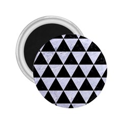 Triangle3 Black Marble & White Marble 2 25  Magnet by trendistuff