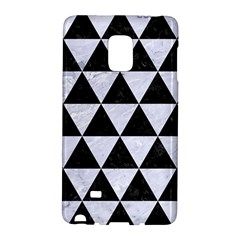 Triangle3 Black Marble & White Marble Samsung Galaxy Note Edge Hardshell Case by trendistuff