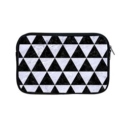 Triangle3 Black Marble & White Marble Apple Macbook Pro 13  Zipper Case