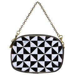 Triangle1 Black Marble & White Marble Chain Purse (one Side) by trendistuff