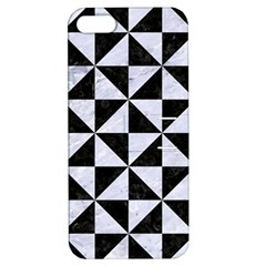 Triangle1 Black Marble & White Marble Apple Iphone 5 Hardshell Case With Stand by trendistuff