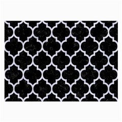 Tile1 Black Marble & White Marble Large Glasses Cloth (2 Sides)