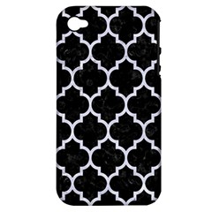 Tile1 Black Marble & White Marble Apple Iphone 4/4s Hardshell Case (pc+silicone) by trendistuff