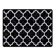 Tile1 Black Marble & White Marble Double Sided Fleece Blanket (small) by trendistuff