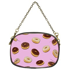 Donuts Pattern   Pink Chain Purses (one Side)  by Valentinaart