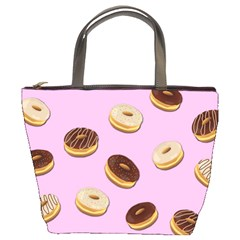 Donuts Pattern   Pink Bucket Bags by Valentinaart