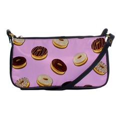 Donuts Pattern   Pink Shoulder Clutch Bags by Valentinaart