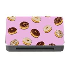 Donuts Pattern   Pink Memory Card Reader With Cf by Valentinaart