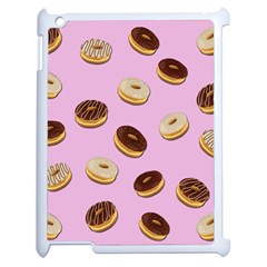Donuts Pattern   Pink Apple Ipad 2 Case (white) by Valentinaart
