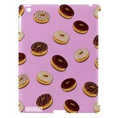 Donuts Pattern   Pink Apple Ipad 3/4 Hardshell Case (compatible With Smart Cover)
