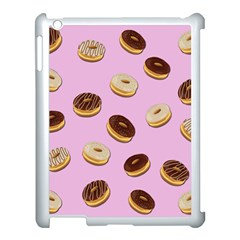 Donuts Pattern   Pink Apple Ipad 3/4 Case (white) by Valentinaart