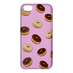 Donuts Pattern   Pink Apple Iphone 5c Hardshell Case by Valentinaart