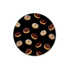 Donuts Rubber Round Coaster (4 Pack)