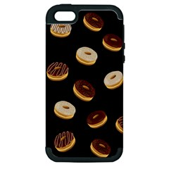 Donuts Apple Iphone 5 Hardshell Case (pc+silicone) by Valentinaart