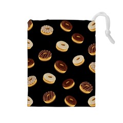 Donuts Drawstring Pouches (large)  by Valentinaart