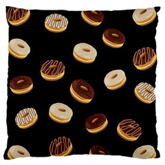 Donuts Large Flano Cushion Case (one Side) by Valentinaart