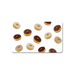 Donuts Pattern Magnet (name Card) by Valentinaart