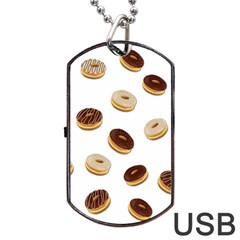 Donuts Pattern Dog Tag Usb Flash (one Side)