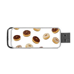 Donuts Pattern Portable Usb Flash (one Side) by Valentinaart