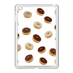 Donuts Pattern Apple Ipad Mini Case (white) by Valentinaart